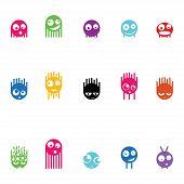 Set of fifteen monsters