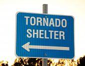 Tornado shelter sign