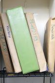 School Books in Locker