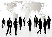 Illustration of business men and women