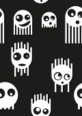 Ghost monsters seamless pattern