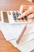 Businesswoman Checking Account Balance