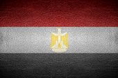 Closeup Screen Egypt Flag Concept On Pvc Leather For Background