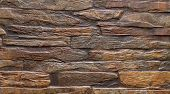 Pattern Brown Color Of Modern Style Design Decorative Uneven Cracked Real Stone Wall Surface With Ce