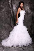 Beautiful Young Bride In Luxurious Dress