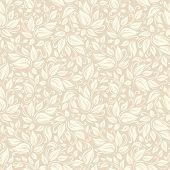 Seamless beige floral pattern. Vector illustration.
