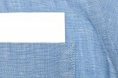 Paper Card In Shirt Pocket