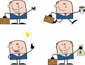 Businessman Dude Cartoon Character 12  Collection Set