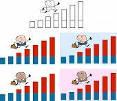 Businessman Dude Cartoon Character 3. Collection Set