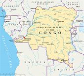 Congo Democratic Republic Political Map