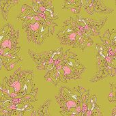 Elegent pattern with abstract flowers.
