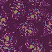Elegant Pattern With Abstract Flowers. Lace Pattern.