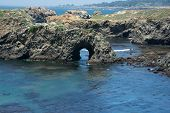 picture of mendocino  - A panoramic view of a natural arc in the ocean - JPG