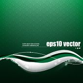 eps10 vector wave elements on seamless pattern background