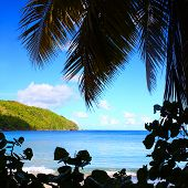 British Virgin Islands Beach Silhouette