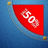 Denim Pocket And Sale Fifty Off