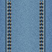 Denim texture with two parallel seams