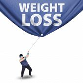 Man Pulling Weight Loss Banner