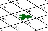 Calendar With St. Patrick's Day