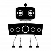 Vector Set Of Different Cute Robots Isolated