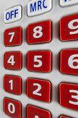 Red Keypad Of Calculator