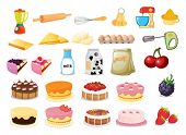 Illustration of different desserts