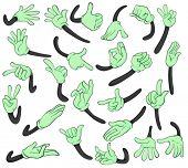 Illustration of hand signals