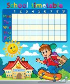 School timetable composition 7 - eps10 vector illustration.
