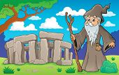 Druid theme image 2 - eps10 vector illustration.
