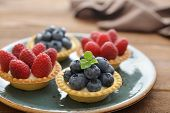 Tarts With Fresh Berries