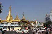Yangon Downtown traffic