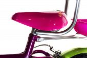 Pink Seat Of Girl's Bicycle