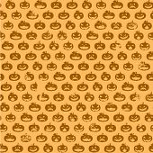 detailed illustration of a seamless grungy halloween pumpkin pattern, eps10 vector