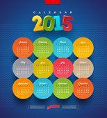 Calendar 2015 vector template
