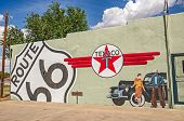 Route 66 Mural With Texaco Sign