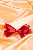 Red Ribbon Satin Bow
