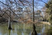 Crystal Palace in the Retiro park Madrid, Spain