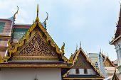Roof Detail In Wat Phra Kaew
