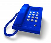 Blue office phone