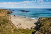 picture of mendocino  - A view of a beach along the coast of Fort Bragg