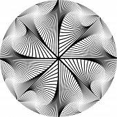 Design Monochrome Circular Abstract Background