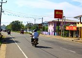Street, district Koggala, Sri Lanka