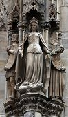 VIENNA, AUSTRIA - OCTOBER 10: Statue of saint at St Stephens Cathedral in Vienna, Austria on October 10, 2014