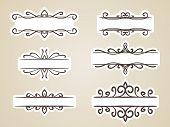 Calligraphic headline frame design element, Vector set