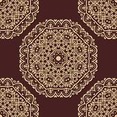 Pattern in the style of Baroque. Abstract Vector Background