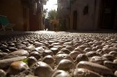 Cobblestone Street In Malcesine