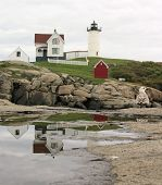 Cape Neddick Lighthouse Reflection