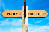 Policy versus Procedure messages