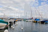 Yachts on the lake Geneva