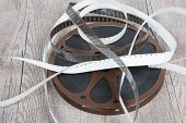 Old Movie Film Reel 16Mm